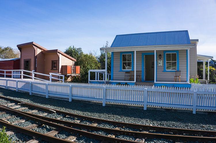 Founders Park railway, Nelson, New Zealand
