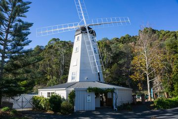 A windmill at Founders Park, Nelson, New Zealand