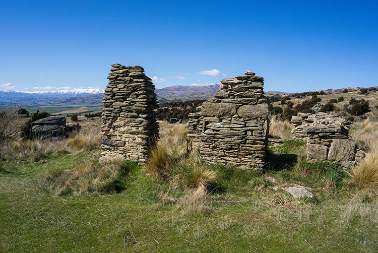 Ruins in Welshtown, Central Otago, New Zealand