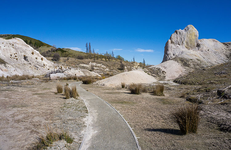 Otherwordly scenery in St Bathans, Central Otago, New Zealand