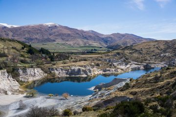 Walking the Blue Lake Track, St Bathans, New Zealand