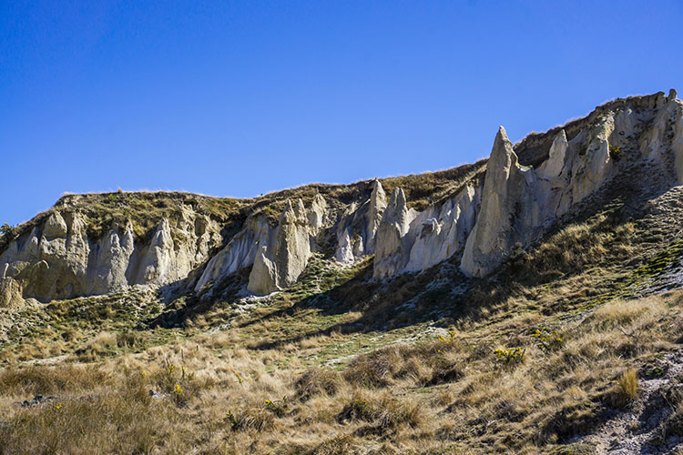 Surreal cliffs in St Bathans, New Zealand
