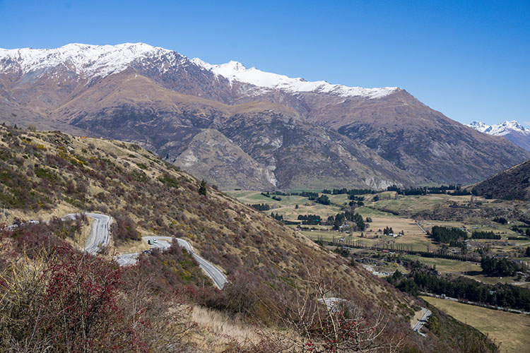 The Crown Range -- driving from Queenstown to Wanaka