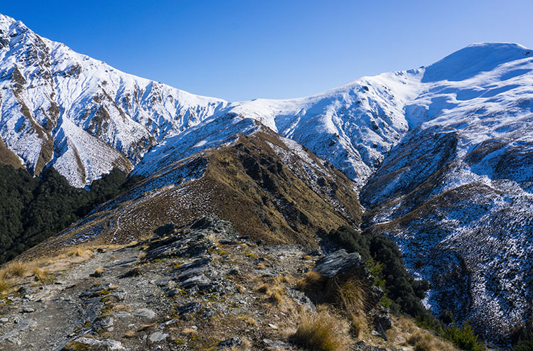 View towards Ben Lomond Saddle, Queenstown, New Zealand