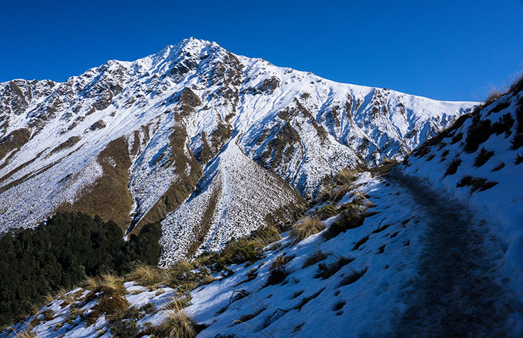 The icy track to Ben Lomond, Queenstown, New Zealand