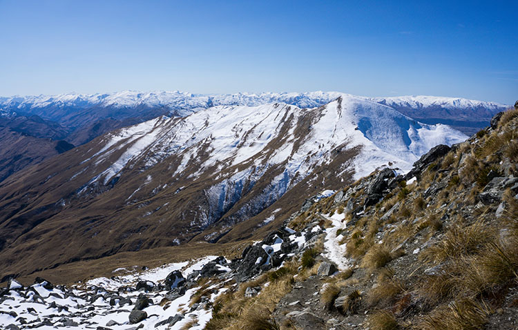 Heading back down from Ben Lomond Summit, Queenstown, New Zealand