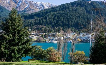 Walking around Queenstown Gardens, New Zealand