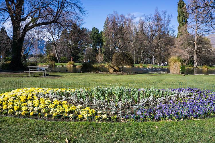 Queenstown Gardens flowers, New Zealand