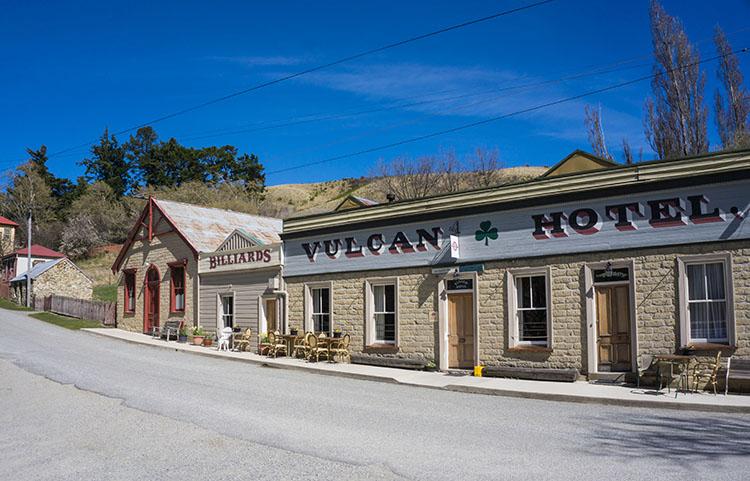 The main street of St Bathans, Central Otago, New Zealand