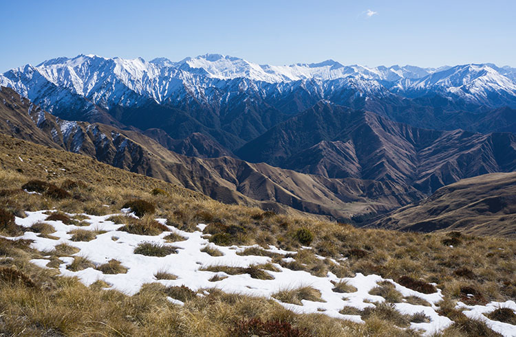 Mountain views from the Ben Lomond Track, Queenstown, New Zealand