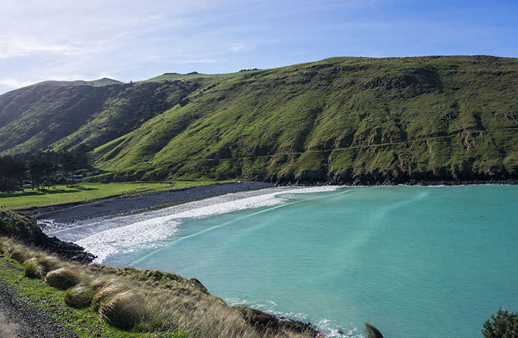 Te Oka Bay, Banks Peninsula, New Zealand