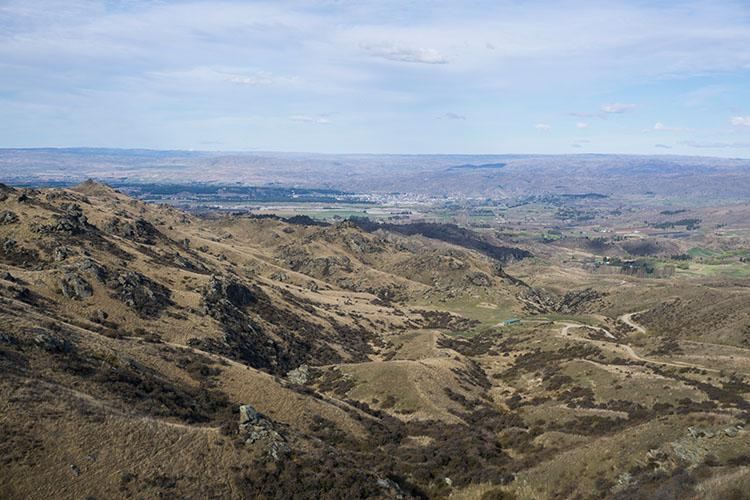 Alexandra Basin from above, New Zealand