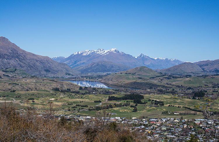 View from New Chum Gully Track, Arrowtown, New Zealand
