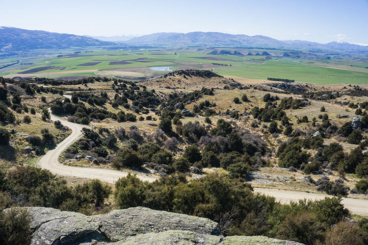 A viewpoint in Bendigo Historic Reserve, Central Otago, New Zealand