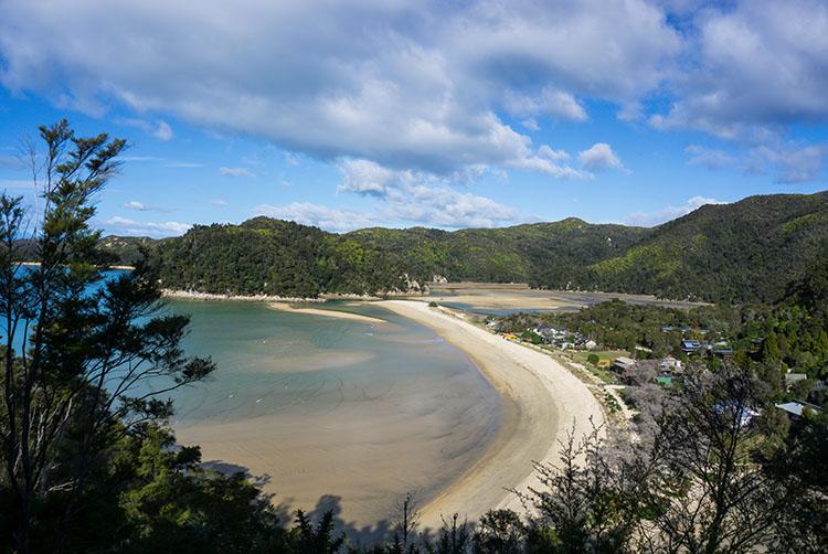 The view above Torrent Bay, Abel Tasman Coastal Track