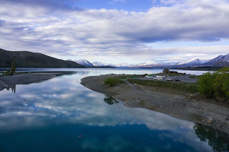 Lake Tekapo foreshore area, New Zealand