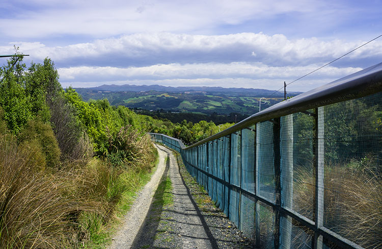 Orokonui Ecosanctuary predator free fence, Dunedin, New Zealand