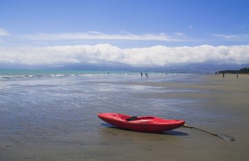 Kayaking at Rabbit Island, Nelson, New Zealand