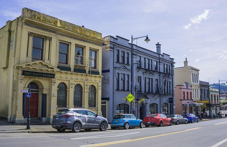 Downtown Port Chalmers, Dunedin, New Zealand
