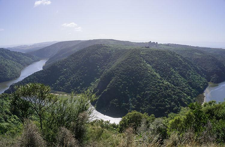 Beautiful view of the Taieri River, Dunedin, New Zealand