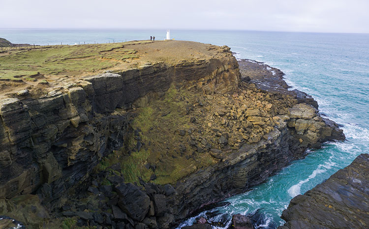 Clifftop view at Slope Point, the Catlins, New Zealand