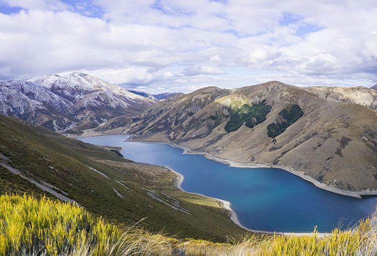 Beautiful view of Lake Lyndon, New Zealand