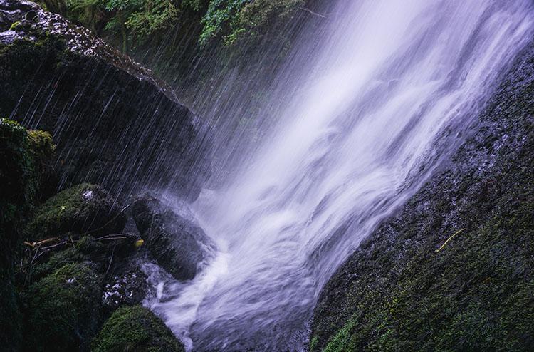 Waipohatu Waterfall close-up, the Catlins, New Zealand