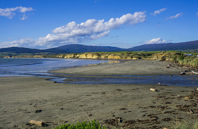 Monkey Island beach, Southland, New Zealand