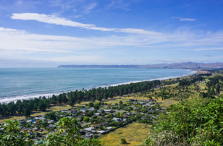 View of Rarangi Beach
