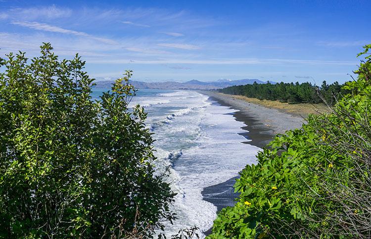 Viewpoint at Rarangi Beach, Marlborough, New Zealand