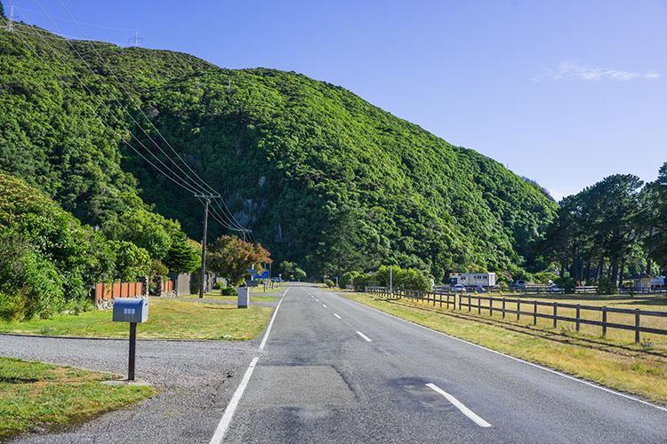 Rarangi township, New Zealand