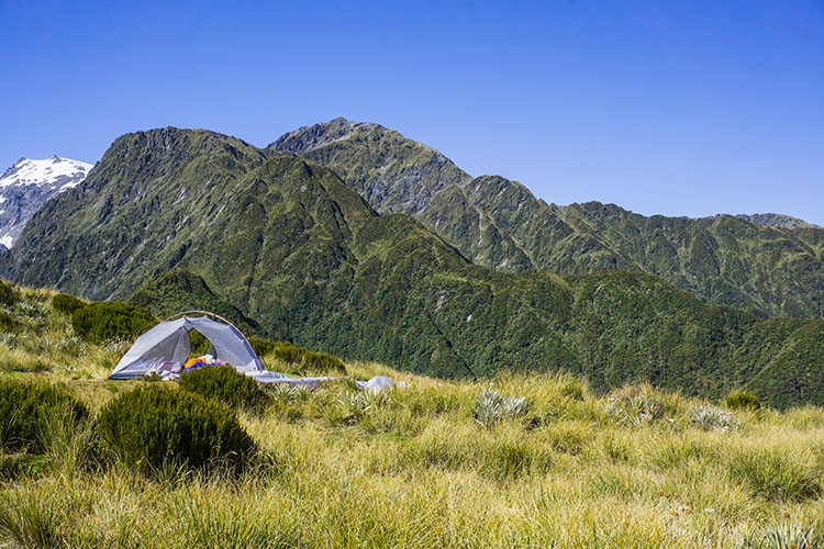 Camping at Alex Knob, Franz Josef, New Zealand