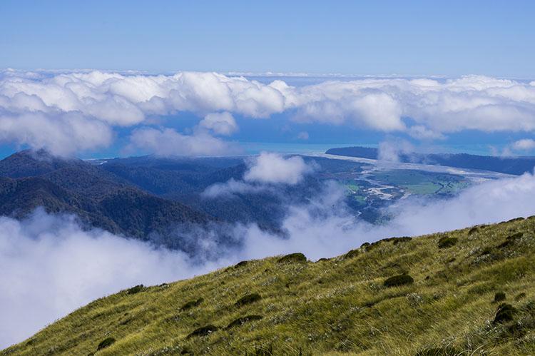 Coastal views in Franz Josef, New Zealand