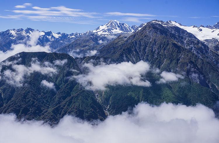 Mountains in Franz Josef, New Zealand