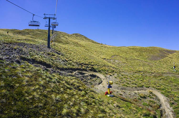 Coronet Peak gondola, Queenstown, New Zealand