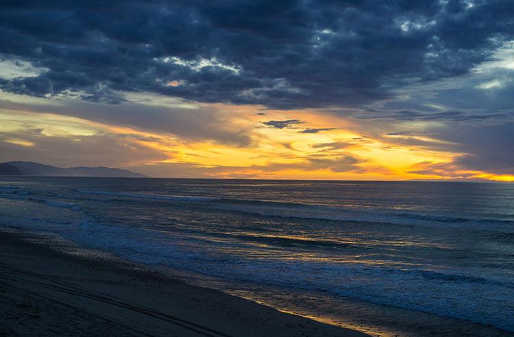 Karamea Beach sunset, New Zealand
