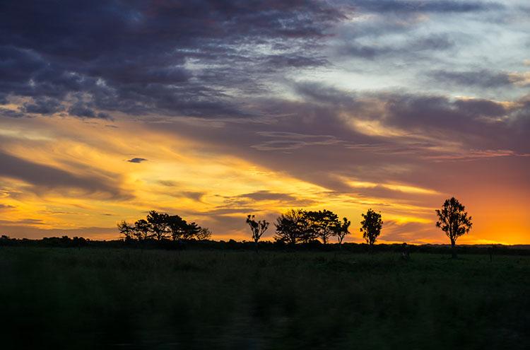 sunset in Karamea, New Zealand