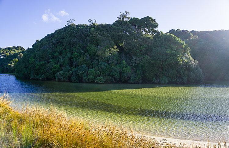 Bathing Beach view, Stewart Island, New Zealand