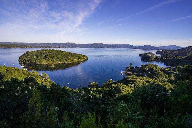 View from Observation Rock, Stewart Island, New Zealand