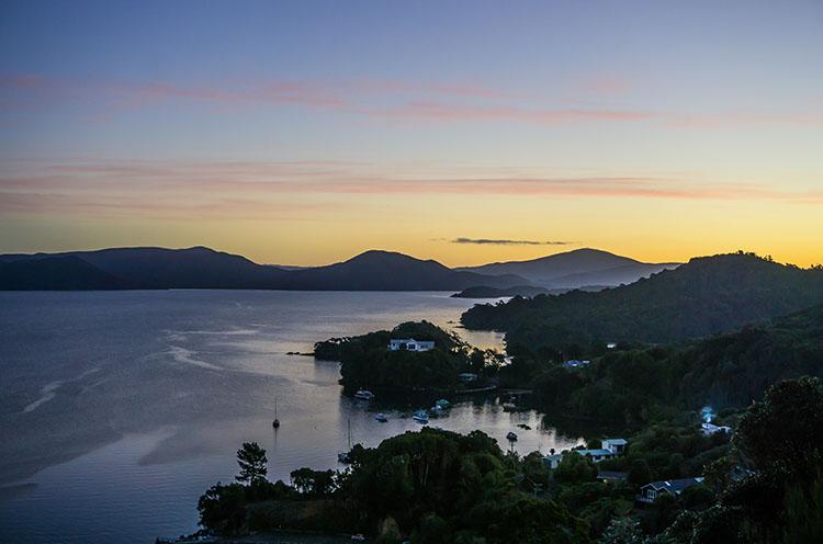 Observation Rock sunset, Stewart Island, New Zealand
