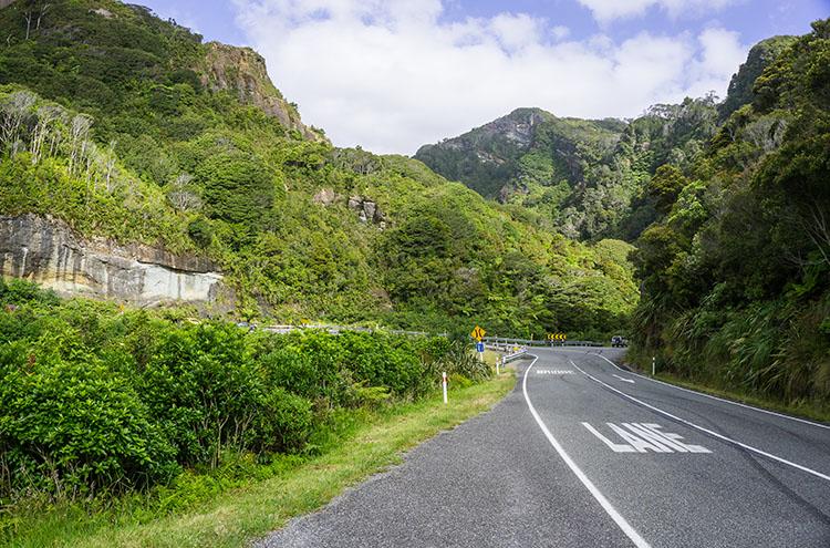 Getting to Punakaiki, New Zealand