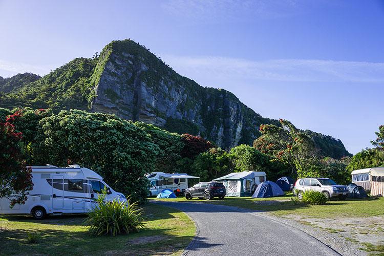 Punakaiki Beach Camp, New Zealand