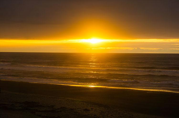 Sunset in Punakaiki, West Coast, New Zealand